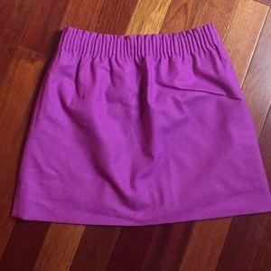 J. Crew purple elastic waist mini skirt